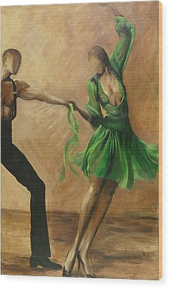 Wood Print featuring the painting Salsa by Sheri  Chakamian