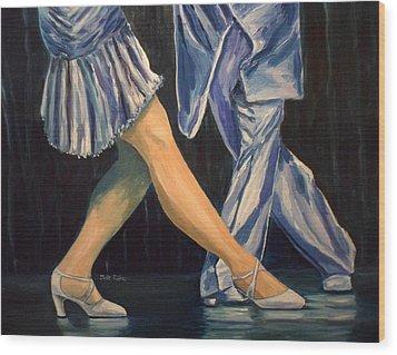 Salsa Stepping Wood Print