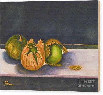 Salsa Verde Wood Print by Genevieve Brown