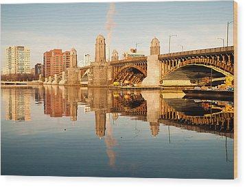 Salt-and-pepper Bridge Wood Print by Lee Costa