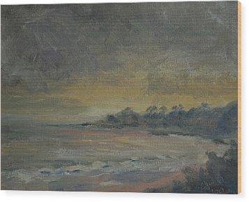 Salt Creek Sunset Wood Print