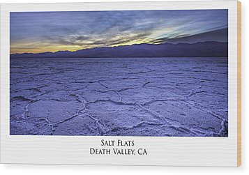 Salt Flats Wood Print