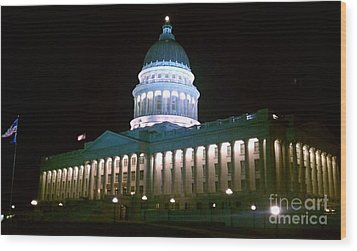 Salt Lake Capitol Building Wood Print by Chris Tarpening