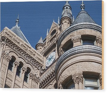 Wood Print featuring the photograph Salt Lake City - City Hall - 1 by Ely Arsha
