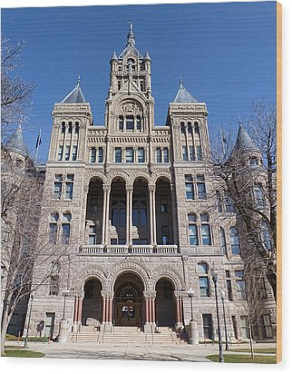 Wood Print featuring the photograph Salt Lake City - City Hall - 2 by Ely Arsha