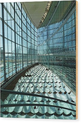 Wood Print featuring the photograph Salt Lake City Library by Ely Arsha