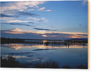 Wood Print featuring the photograph Salt Lake Marina Sunset by Matt Harang