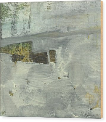 Wood Print featuring the painting Salt Marsh C2013 by Paul Ashby