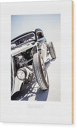 Salt Metal Wood Print by Holly Martin