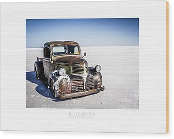 Salt Metal Pick Up Truck Wood Print by Holly Martin