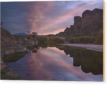 Salt River Sunrise 2 Wood Print