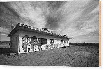 Wood Print featuring the photograph Salton Sea Cafe by Robert  Aycock