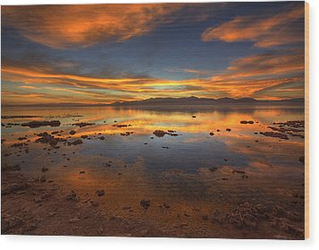 Salton Sea Color Wood Print by Peter Tellone
