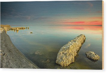 Salton Sea Sunset Wood Print by Robert  Aycock