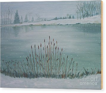 Saltville Pond Wood Print by Julie Brugh Riffey
