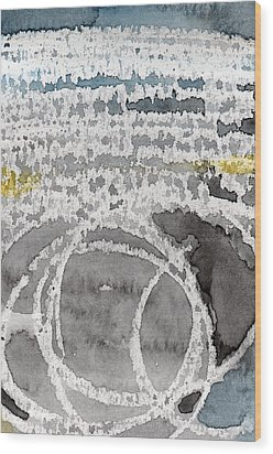 Saltwater- Abstract Painting Wood Print by Linda Woods