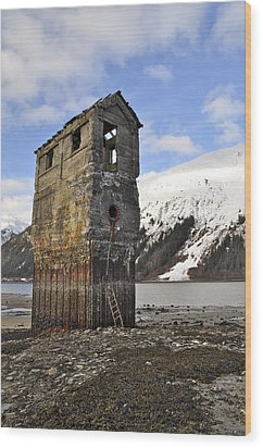 Saltwater Pump House Wood Print