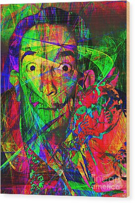 Salvador Dali 20130613 Wood Print by Wingsdomain Art and Photography