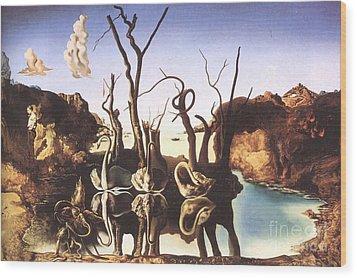 Salvador Dali Wood Print by Christo Grudev