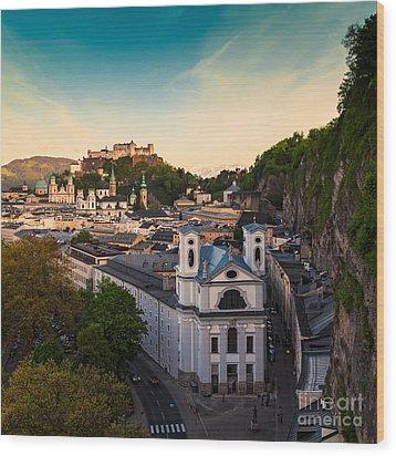 Salzburg 06 Wood Print by Tom Uhlenberg