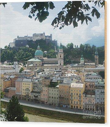 Salzburg Austria Old Town 3 Wood Print by Rudi Prott