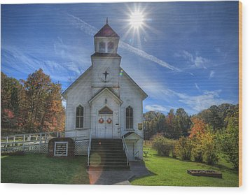 Sam Black Church Wood Print by Jaki Miller