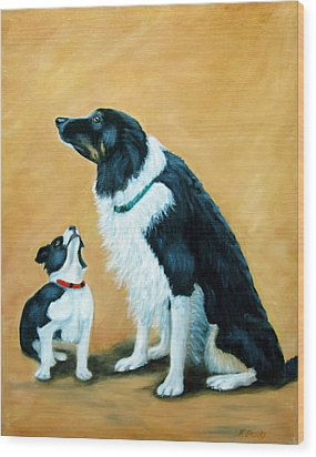 Wood Print featuring the painting Sammy And Breagh by Fran Brooks