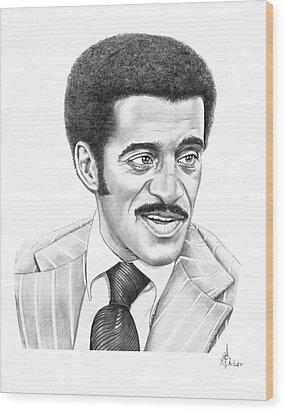 Sammy Davis Jr Wood Print by Murphy Elliott