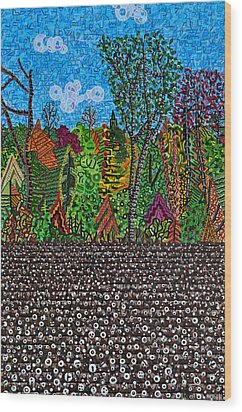 Sampson County Cotton Field Wood Print by Micah Mullen