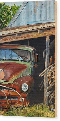 Sams Truck Wood Print