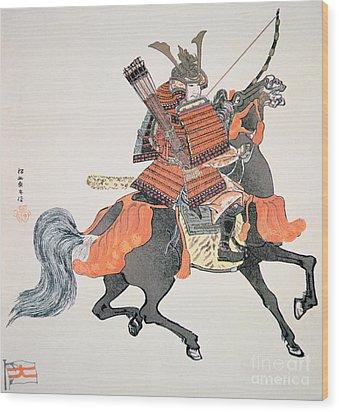 Samurai Wood Print by Japanese School