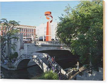 Wood Print featuring the painting San Antonio River 01 by Shawn Marlow