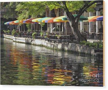 San Antonio River Walk Wood Print