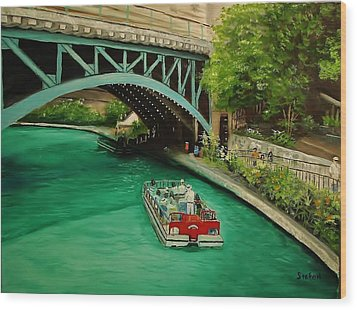 San Antonio Riverwalk Wood Print by Stefon Marc Brown
