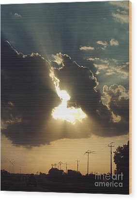 Wood Print featuring the photograph San Antonio Sunset by Peter Piatt