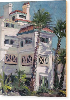San Clemente Facade Wood Print by Mark Lunde