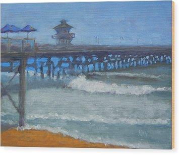 San Clemente Pier Wood Print by Kent Pace