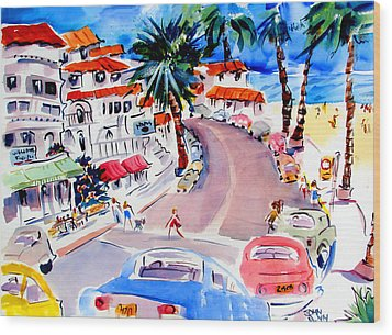 San Clemente Strip Wood Print by John Dunn