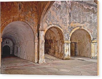 Wood Print featuring the photograph San Cristobal Fort Tunnels by Ricardo J Ruiz de Porras