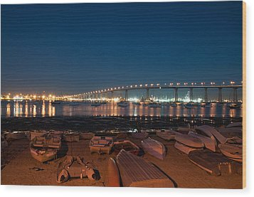 San Diego Bridge  Wood Print