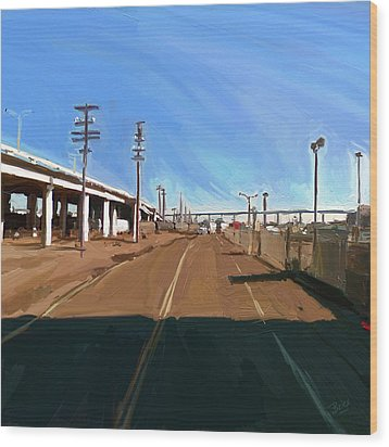 Wood Print featuring the painting San Diego California Usa by Nop Briex