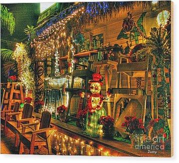 San Diego Christmas Wood Print