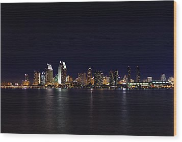 San Diego Night Lights Wood Print