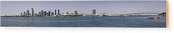 San Diego Panorama Wood Print by Photographic Art by Russel Ray Photos