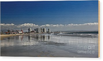 San Diego Wood Print by Robert Bales