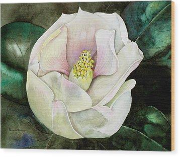 San Diego S Magnolia Wood Print