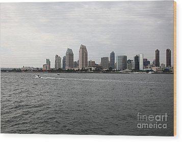 San Diego Skyline 5d24336 Wood Print by Wingsdomain Art and Photography