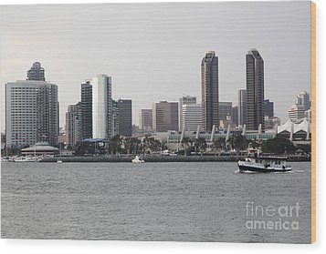San Diego Skyline 5d24380 Wood Print by Wingsdomain Art and Photography
