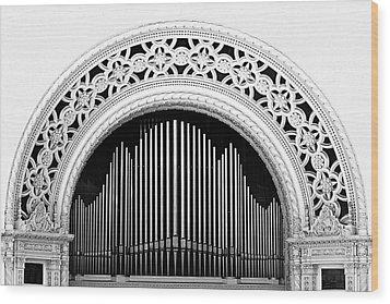 San Diego Spreckels Organ Wood Print by Christine Till