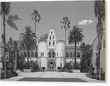 San Diego State University - Hepner Hall Wood Print by University Icons